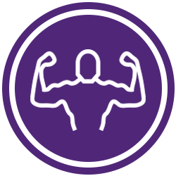 Icon Set Strength Purple